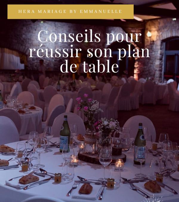 RÉUSSIR VOTRE PLAN DE TABLE