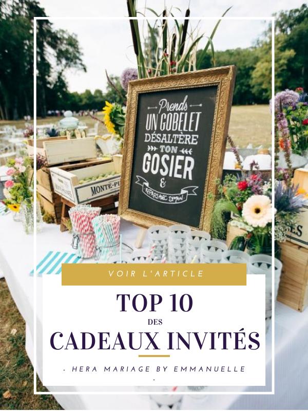 Top 10 des cadeaux invités : Article de blog mariage - Hera Mariage Wedding Planner - Auvergne - Puy de Dôme - Clermont-Ferrand - Allier - Haute-Loire - Cantal